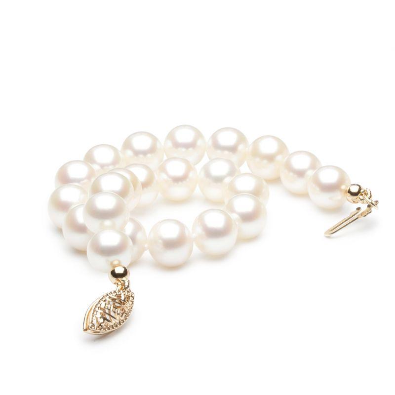 Braccialetto perle d'acqua dolce bianche - 7/7.5mm, AAA