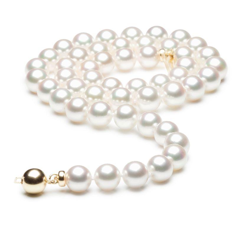 Collana di perle Akoya Giappone bianche - 7/7.5mm, GEMMA