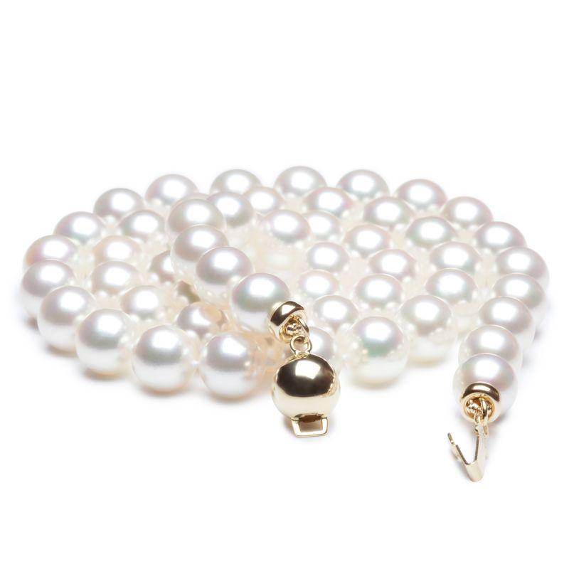 Collana di perle Akoya giapponesi bianche - 6.5/7mm, AAA