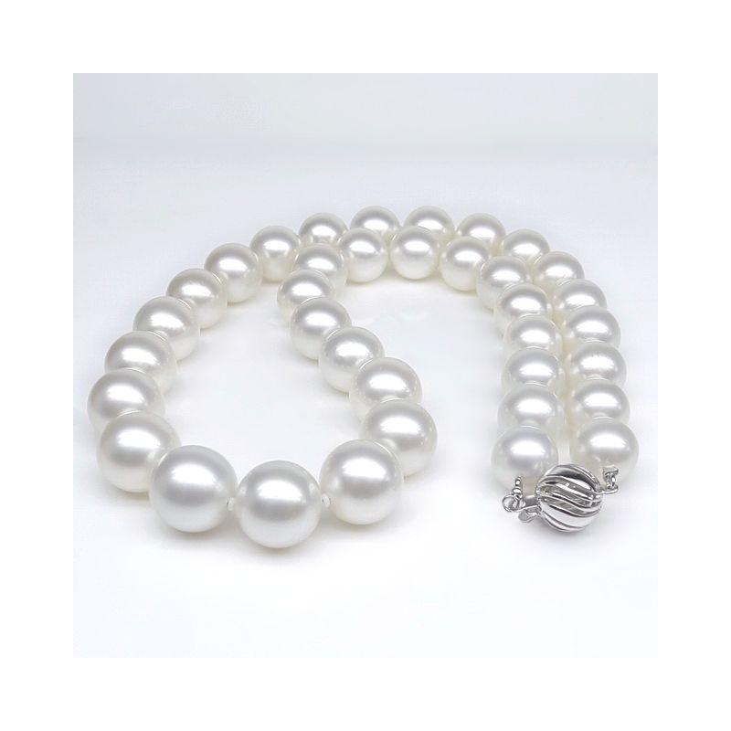 Collana in perle d'Australia bianche - Perle dei mari del sud 10/12mm